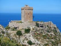 Altavilla Milicia - Torre Normanna Fotografering för Bildbyråer