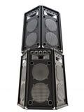 Altavoces audios grandes de la torre Imagen de archivo