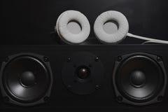 Altavoces centrales de 7 1 sistema de sonido de la alta fidelidad de THX Fotografía de archivo libre de regalías