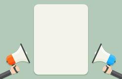 Altavoces con la plantilla del texto Imagen de archivo