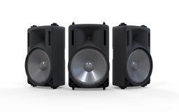 Altavoces de audio aislados en el fondo blanco Fotografía de archivo libre de regalías