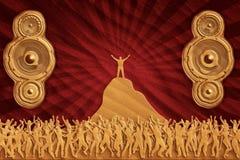 Altavoces de la danza de la arena Imágenes de archivo libres de regalías