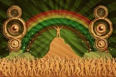 Altavoces de la danza de la arena Foto de archivo libre de regalías