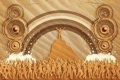 Altavoces de la danza de la arena Fotos de archivo libres de regalías