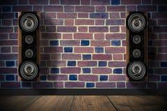 Altavoces de la música de Brown Imágenes de archivo libres de regalías