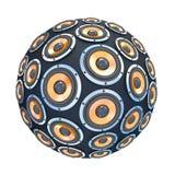 Altavoces en la forma de esfera aislada stock de ilustración