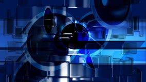 Altavoces sanos de la música azules ilustración del vector