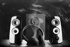 Altavoces sanos negros modernos Foto de archivo