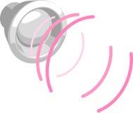 Altavoz con las ondas acústicas Foto de archivo libre de regalías