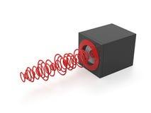 Altavoz con las ondas acústicas Imagen de archivo libre de regalías