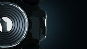Altavoz 3D de la esfera stock de ilustración