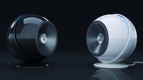 Altavoz 3D de la esfera Fotografía de archivo libre de regalías