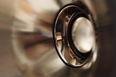 Altavoz de aluminio. imagen de archivo