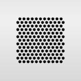 Altavoz de audio abstracto Fotografía de archivo