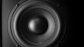 Altavoz de audio bajo que golpea pesadamente almacen de video