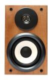 Altavoz de madera de la música Imágenes de archivo libres de regalías