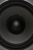 Altavoz para bajas audiofrecuencias lleno del marco Fotografía de archivo libre de regalías