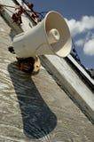 Altavoz ruidoso blanco Fotografía de archivo