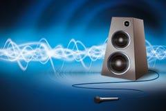 Altavoz y micrófono Foto de archivo libre de regalías
