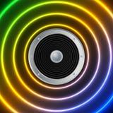 Altavoz y ondas acústicas Fotos de archivo libres de regalías