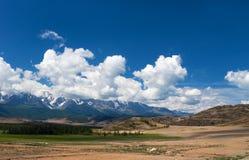 Altay βουνά και στέπα Kuray στοκ φωτογραφία με δικαίωμα ελεύθερης χρήσης