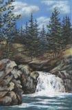 altay faller den pastellfärgade floden Arkivbild