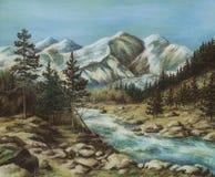 altay krajobraz ilustracja wektor