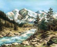altay krajobraz ilustracji