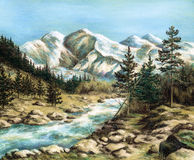 The Altay landscape Royalty Free Stock Photo