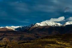 Altay. Mountains. Golden autumn. Blue sky. Royalty Free Stock Photos
