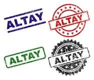 ALTAY Seal Stamps texturisé endommagé Illustration Stock