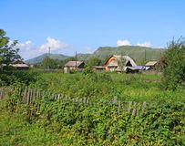 The Altay village Stock Photography