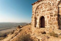 Altbau auf dem Felshügel des Klosters von David Gareji Errichtet im 6. Jahrhundert in Georgia Der meiste populäre Platz in Vietna Lizenzfreies Stockfoto