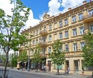 Altbau auf der Vilnius-Straße Stockbild