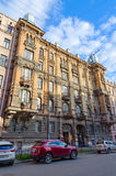 Altbau auf pereulok Bolshoy Kazachiy, St Petersburg, Russland Stockbild