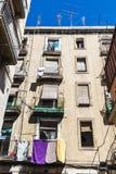 Altbau der alten Stadt von Barcelona Stockbilder