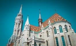 Altbau der europäischen Kirche, Ungarn Budapest Lizenzfreie Stockfotografie
