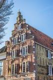 Altbau in der historischen Stadt Harlingen Lizenzfreies Stockbild