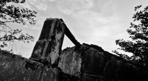 Altbau ohne Dach lizenzfreies stockbild