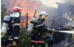 Altbau, wenn Sie voll flammen Stockfotografie