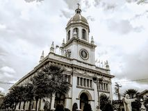 Altbauarchitekturkirche Bangkok Thailand stockfotografie