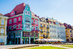 Altbauten gelegen in einer Stadt in Rumänien, Timisoara Lizenzfreie Stockfotos