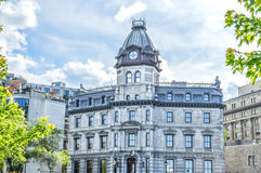 Altbauten im alten Hafen von Montreal Stockfotos