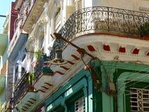 Altbauten mit Straßenlaternen Lizenzfreies Stockfoto