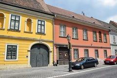 Altbauten von Buda Stockfoto