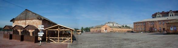 Altbauten von Omsk-Festung Lizenzfreies Stockfoto