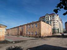 Altbauten von Omsk-Festung Lizenzfreies Stockbild