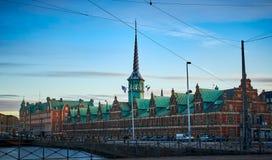 Altbestand-Austausch Børsen in Kopenhagen, Dänemark stockfotografie