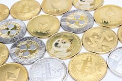 Free Altcoins And Bitcoins Stock Photography - 220189452