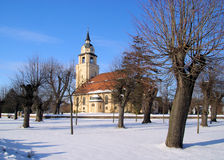 Altdobern church winter Royalty Free Stock Photos